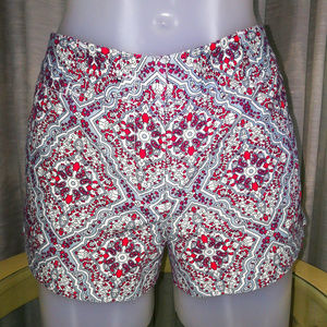 J Crew Red White & Blue 4th of July Paisley Shorts